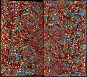 Marbled endpapers, ca. 1880